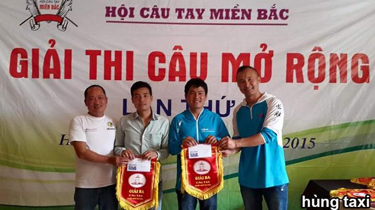hùng taxi đoạt giải ba hội câu tay miền bắc