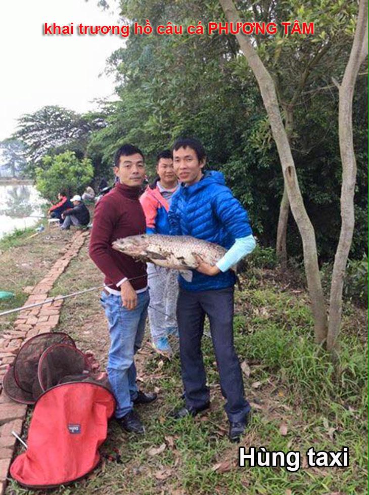 Khai trương hồ câu cá phương tâm